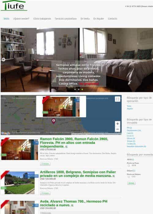 Web para inmobiliaria