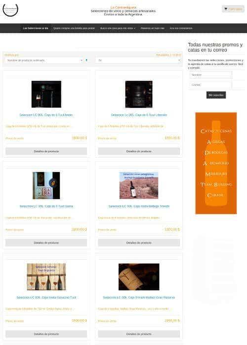 Diseño de E-commerce de vinos y cervezas