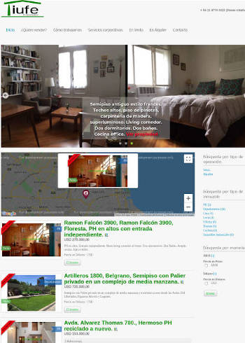 Cración sitio web inmobiliaria
