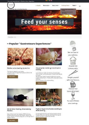 Sitio Web para empresa de turismo